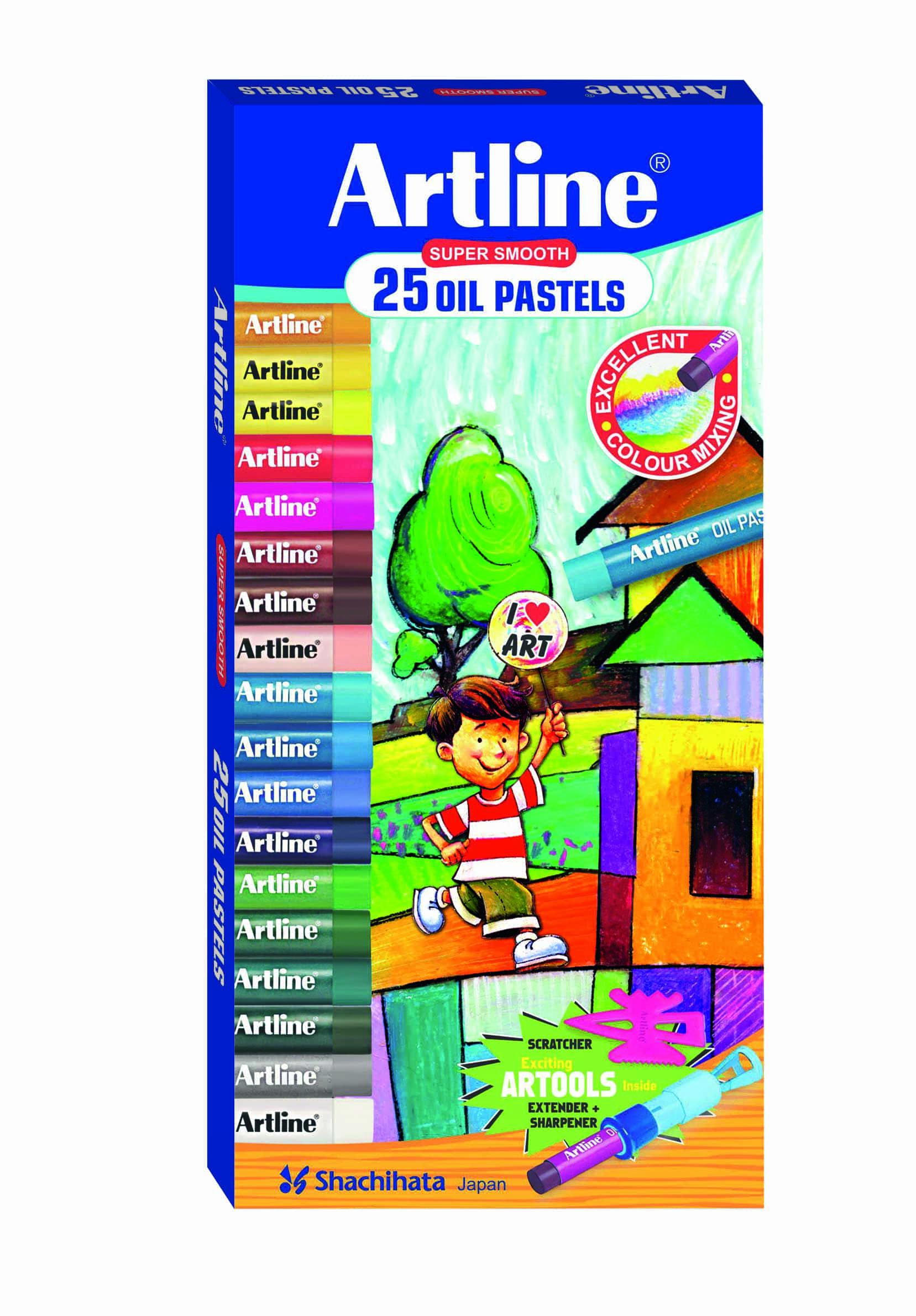 Artline Oil Pastel Colors - 25 Shades