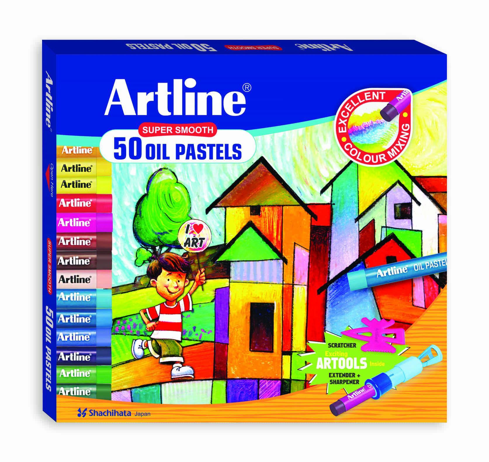 Artline Oil Pastel Colors - 50 Shades