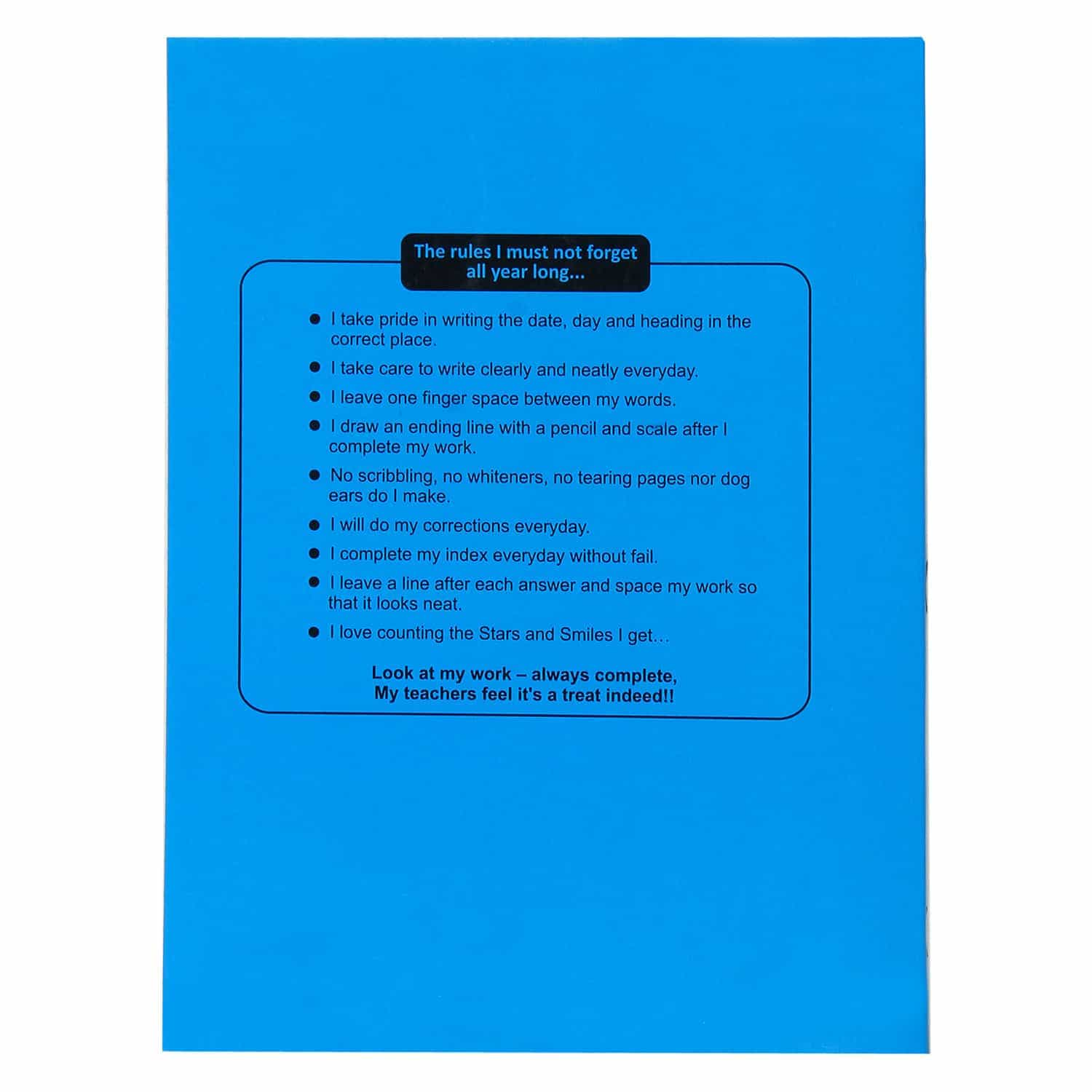 Amity Blue Small Square Notebook - 96 Pages