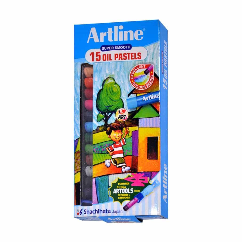 Artline Oil Pastel Colors - 15 Shades