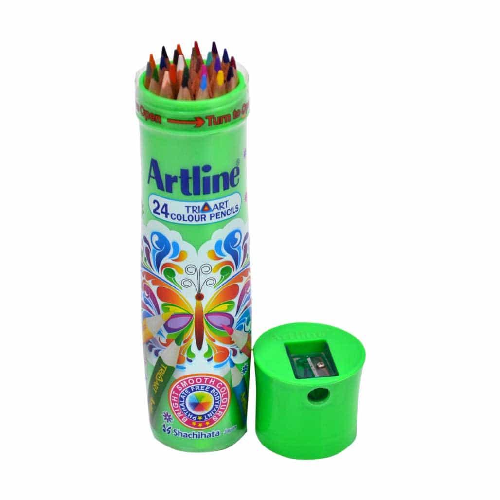 Artline Triangular Color Pencils - 24 Shades