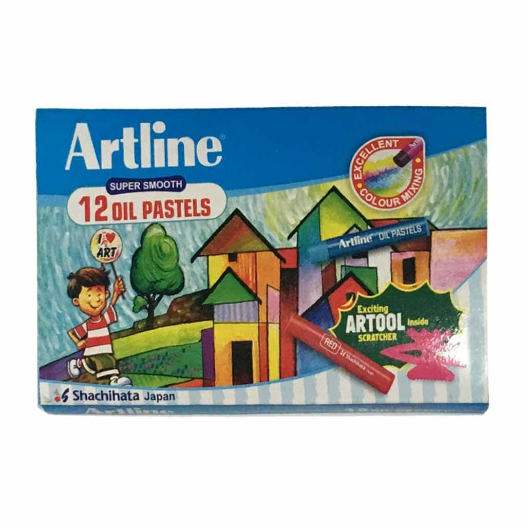 Artline Oil Pastel Colors - 12 Shades