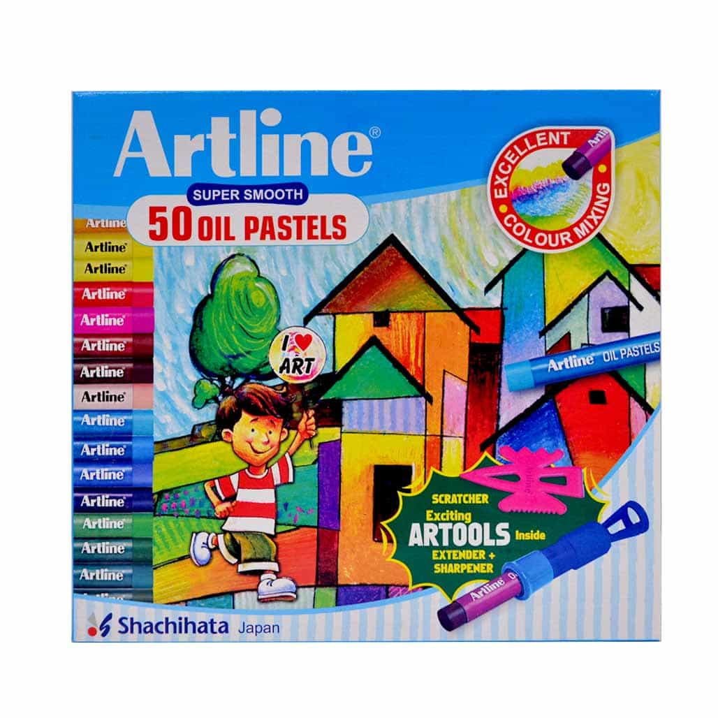 Artline Oil Pastel Colors with Artools - 50 Shades
