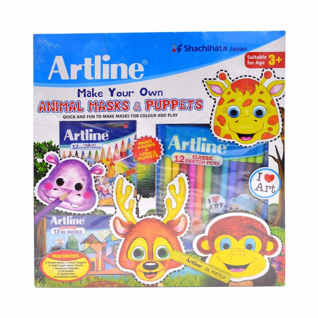 Artline Animal Masks & Puppets Kit