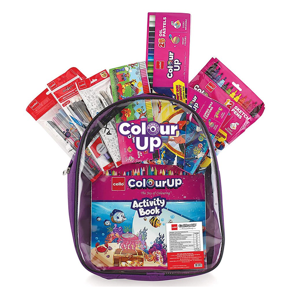 Cello ColourUP Hobby Bag for Kids (Kit of Drawing & Stationery)