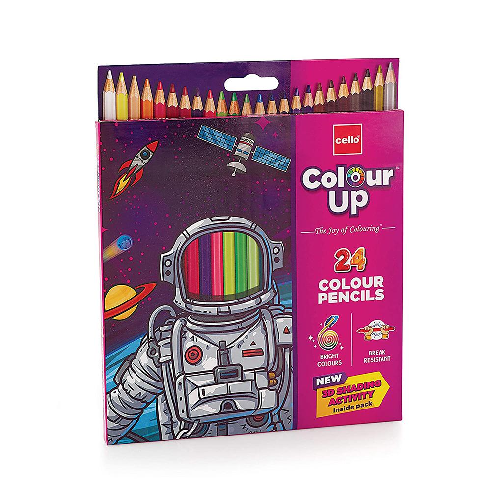 Cello ColourUp Colour Pencil Set (Pack of 24 Pencil Colors)