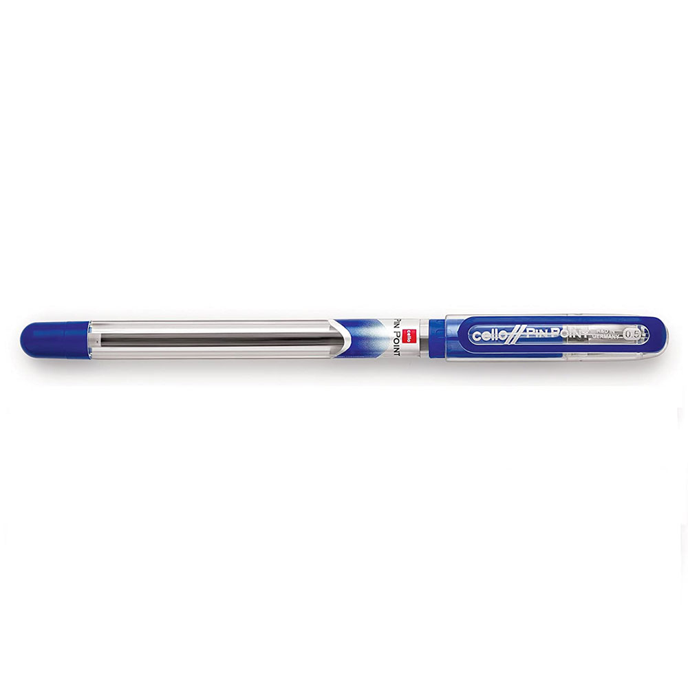 Cello Pinpoint Ball Pen (Pack of 10 Blue Pens)