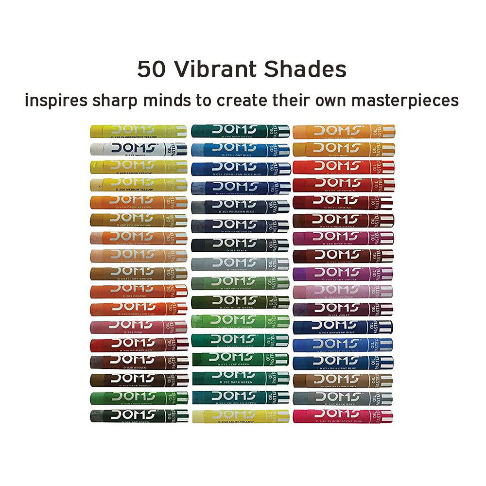 DOMS Oil Pastel Color (Plastic Pack of 50 Shades)