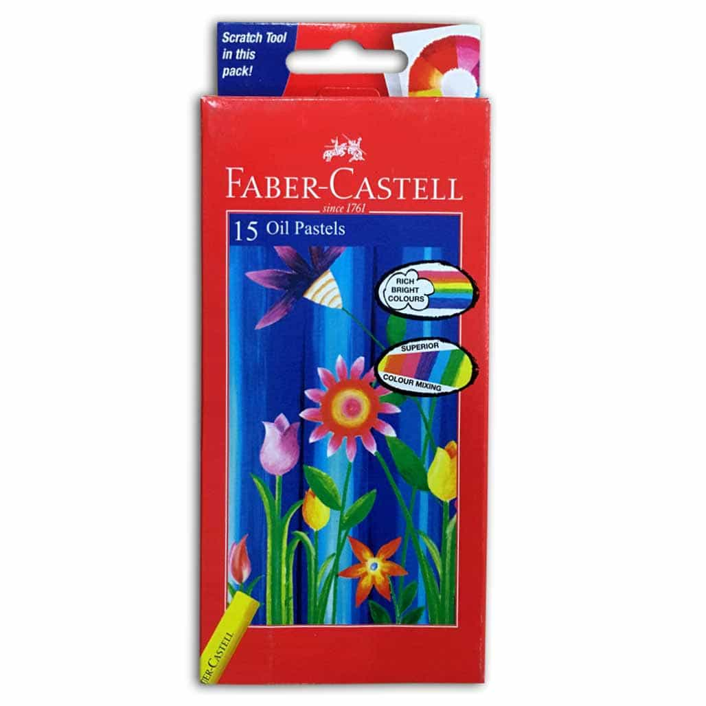 Faber Castell Oil Pastel Colors - 15 Shades