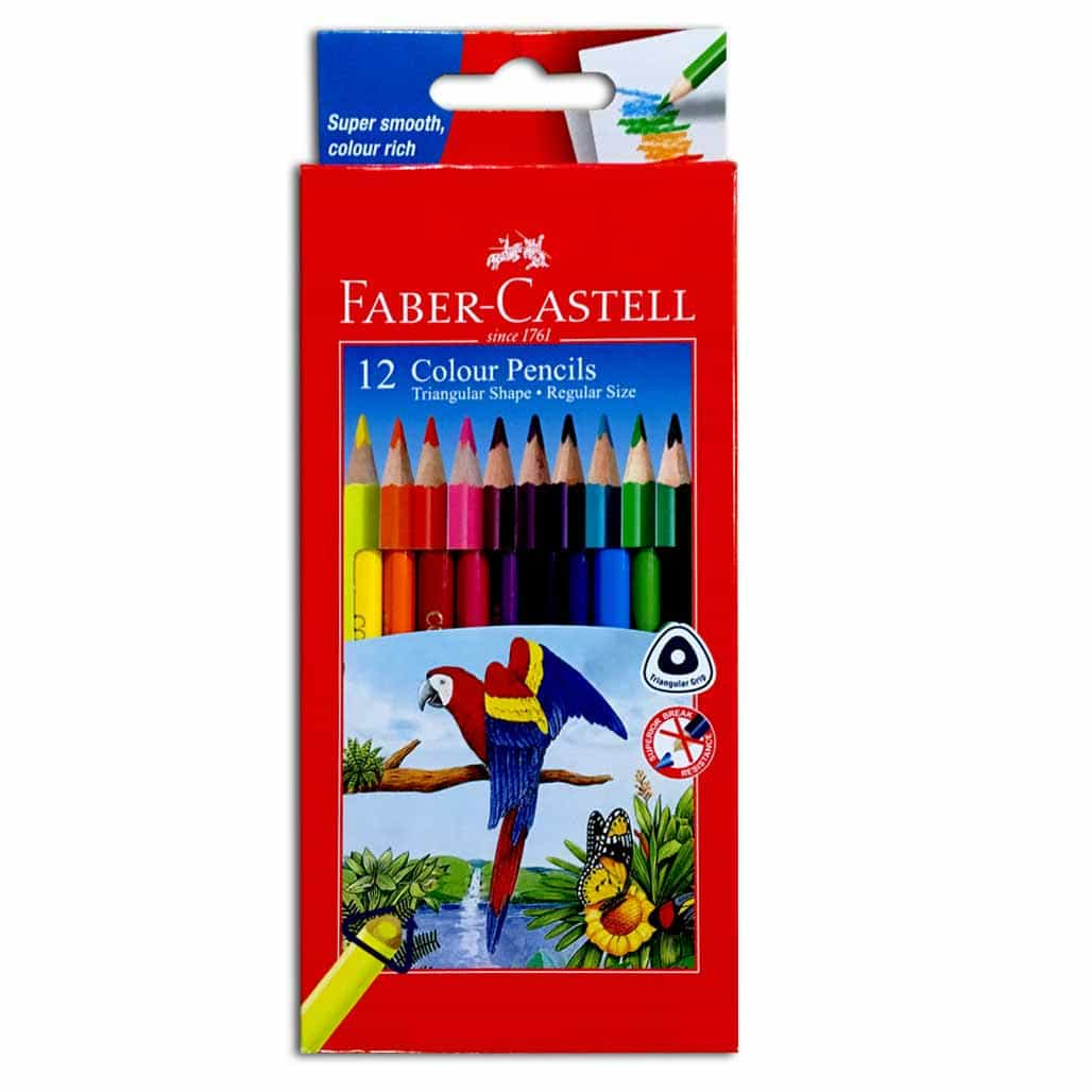 Faber Castell Color Pencils - 12 Shades