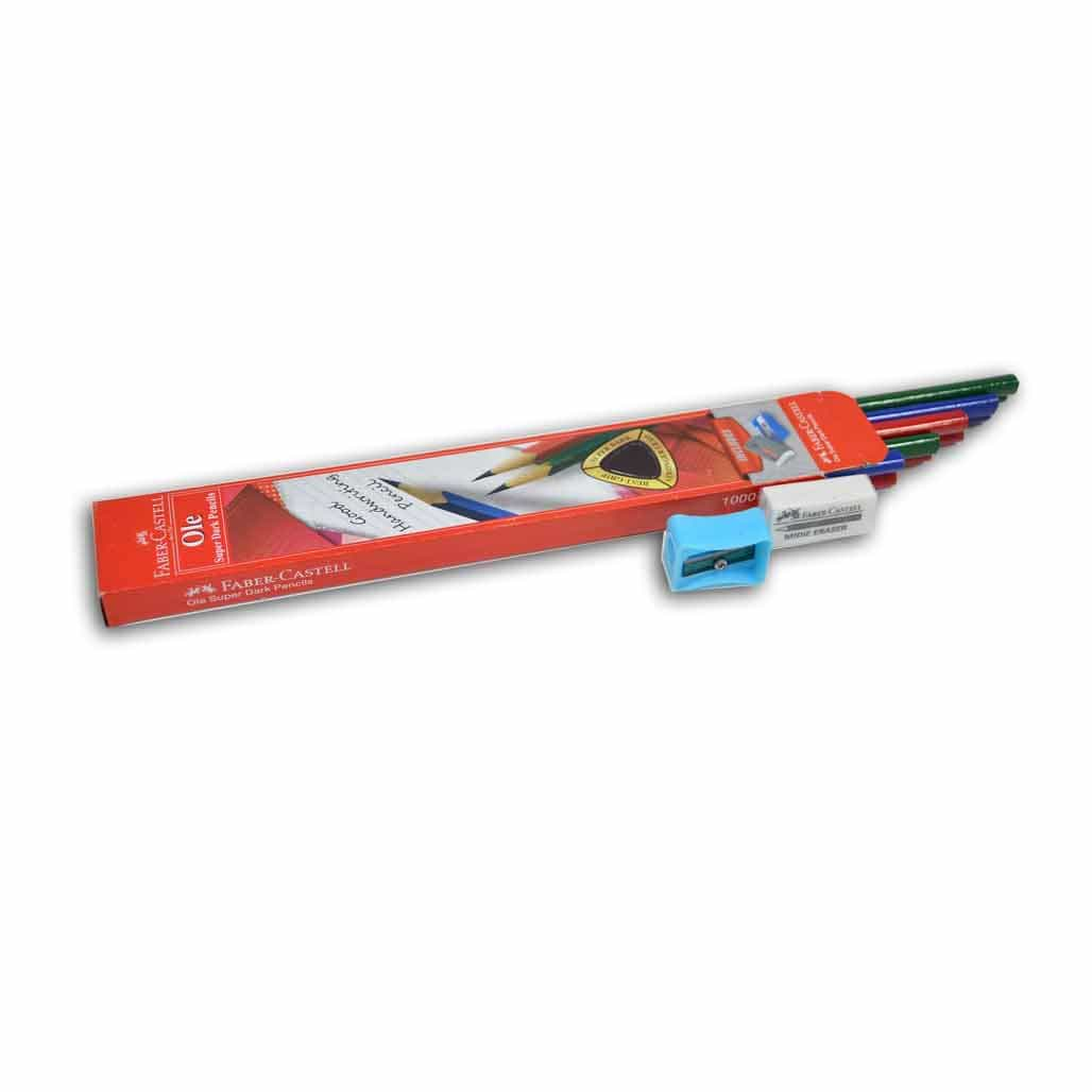 Faber Castell Super Dark Pencils - Set of 10