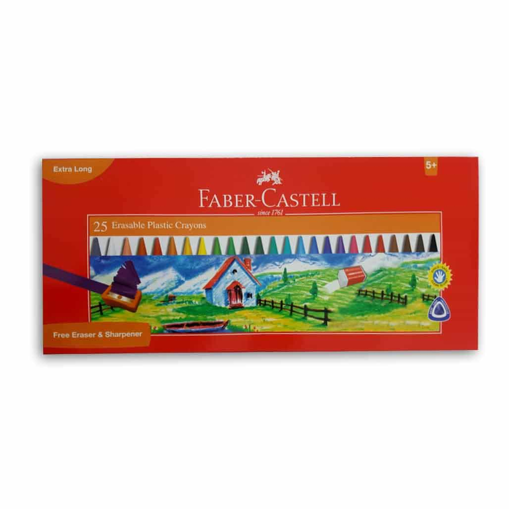 Faber Castell Erasable Plastic Crayons - 25 Shades
