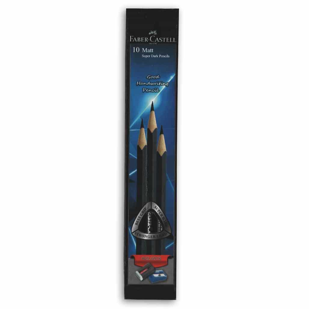 Faber Castell Matt Super Dark Pencils - Set of 10