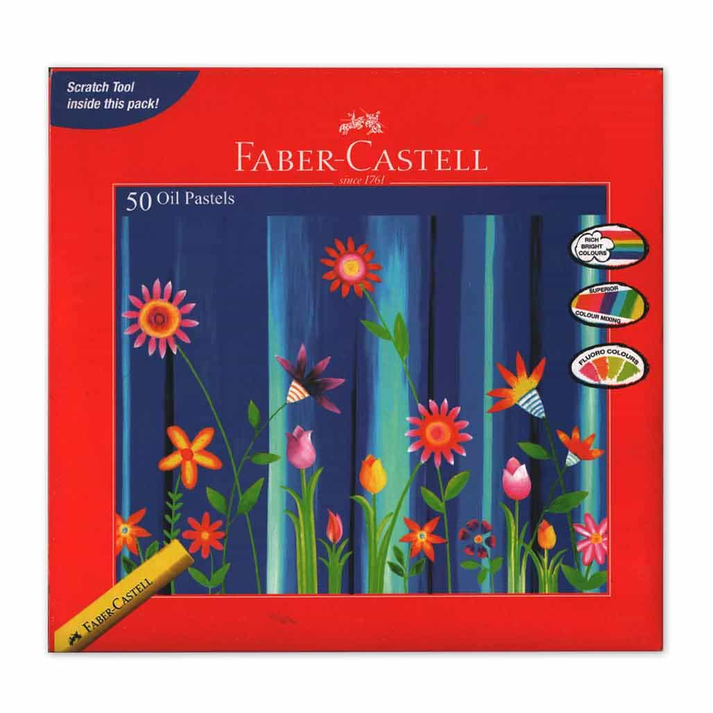 Faber Castell Oil Pastel Colors - 50 Shades
