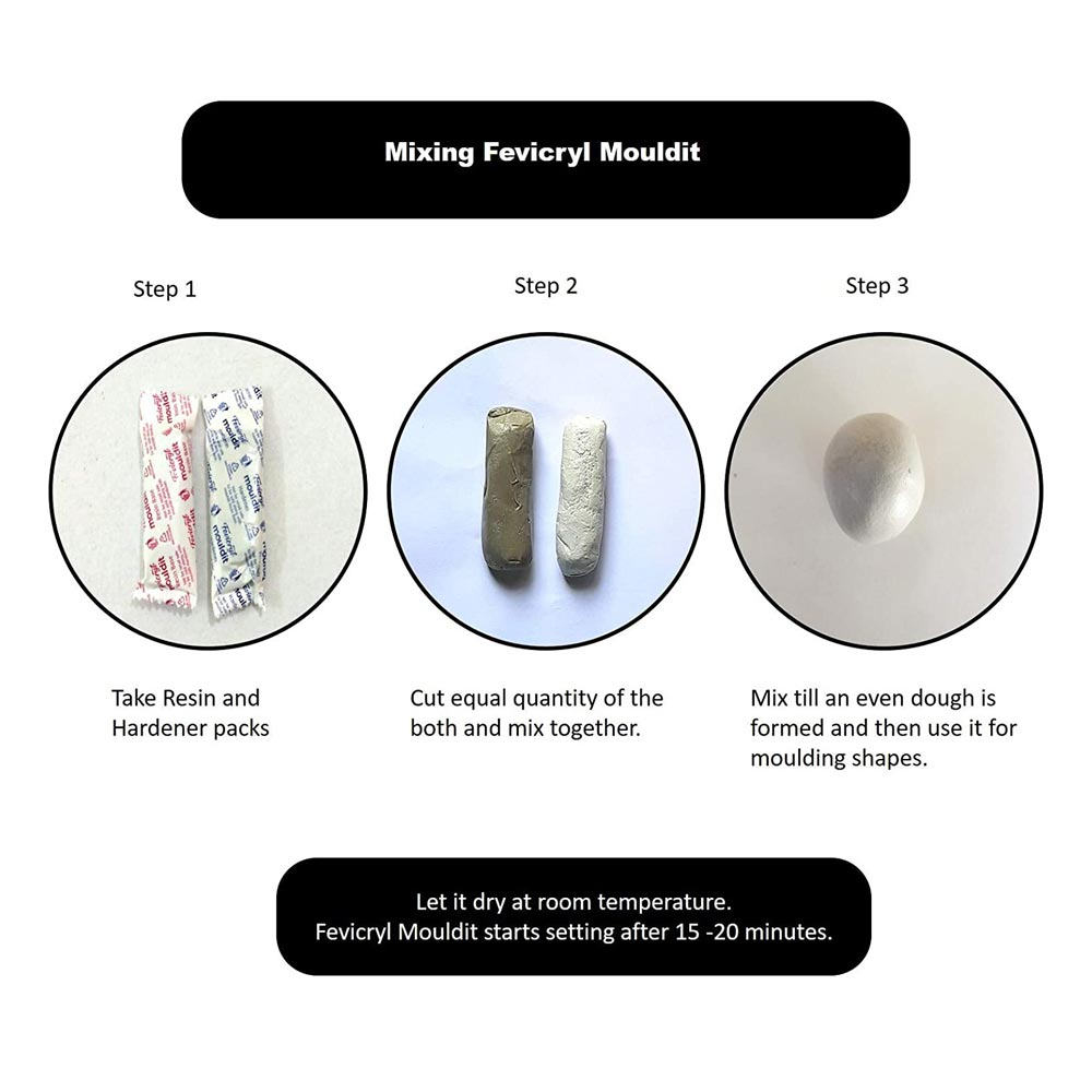 Fevicryl Hobby ideas Mould It (Box of 800g Mould)
