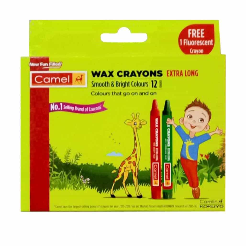 Camlin Wax Crayons - 12 Shades
