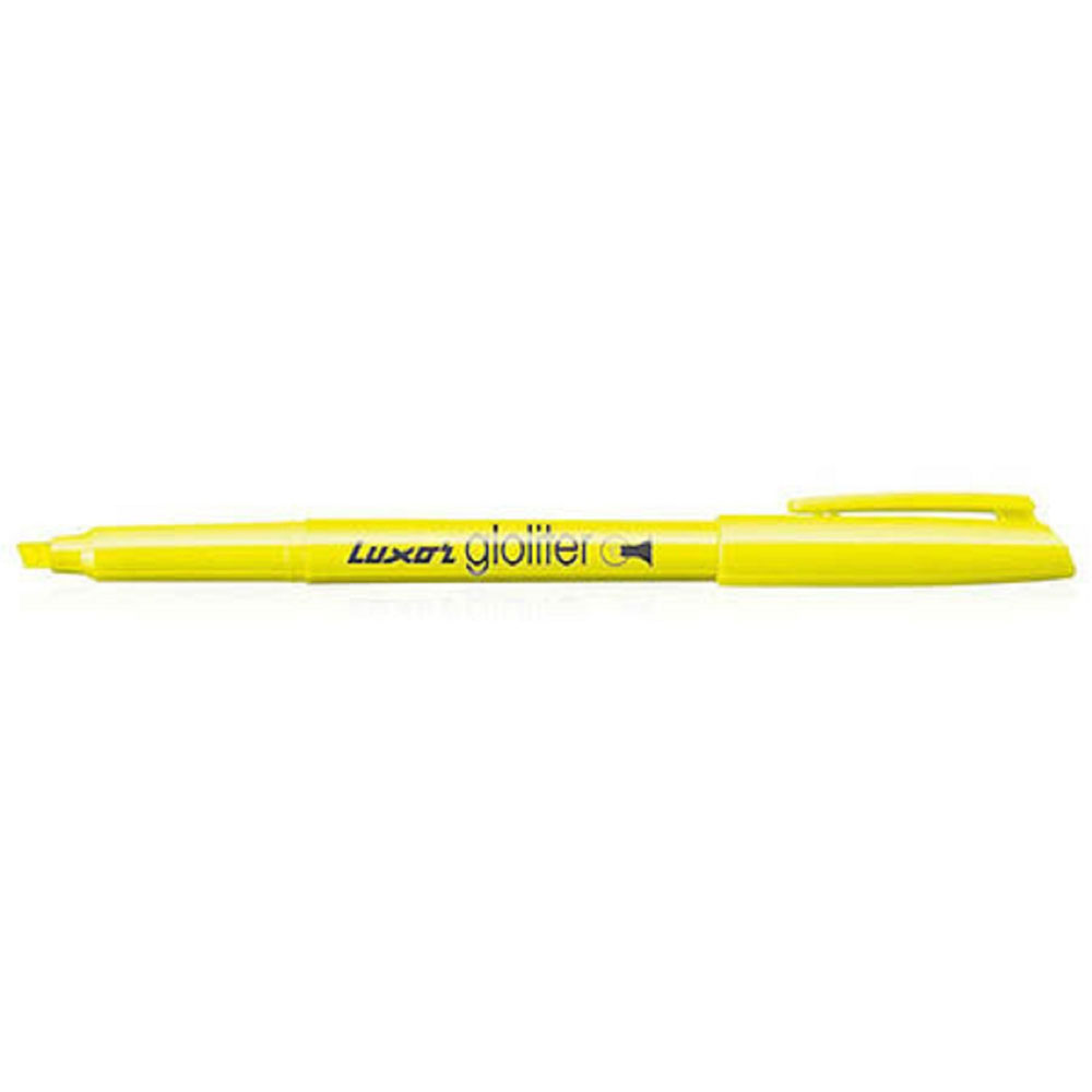 Luxor Gloliter Highlighter Renge (Pack of 10 Yellow Pens)