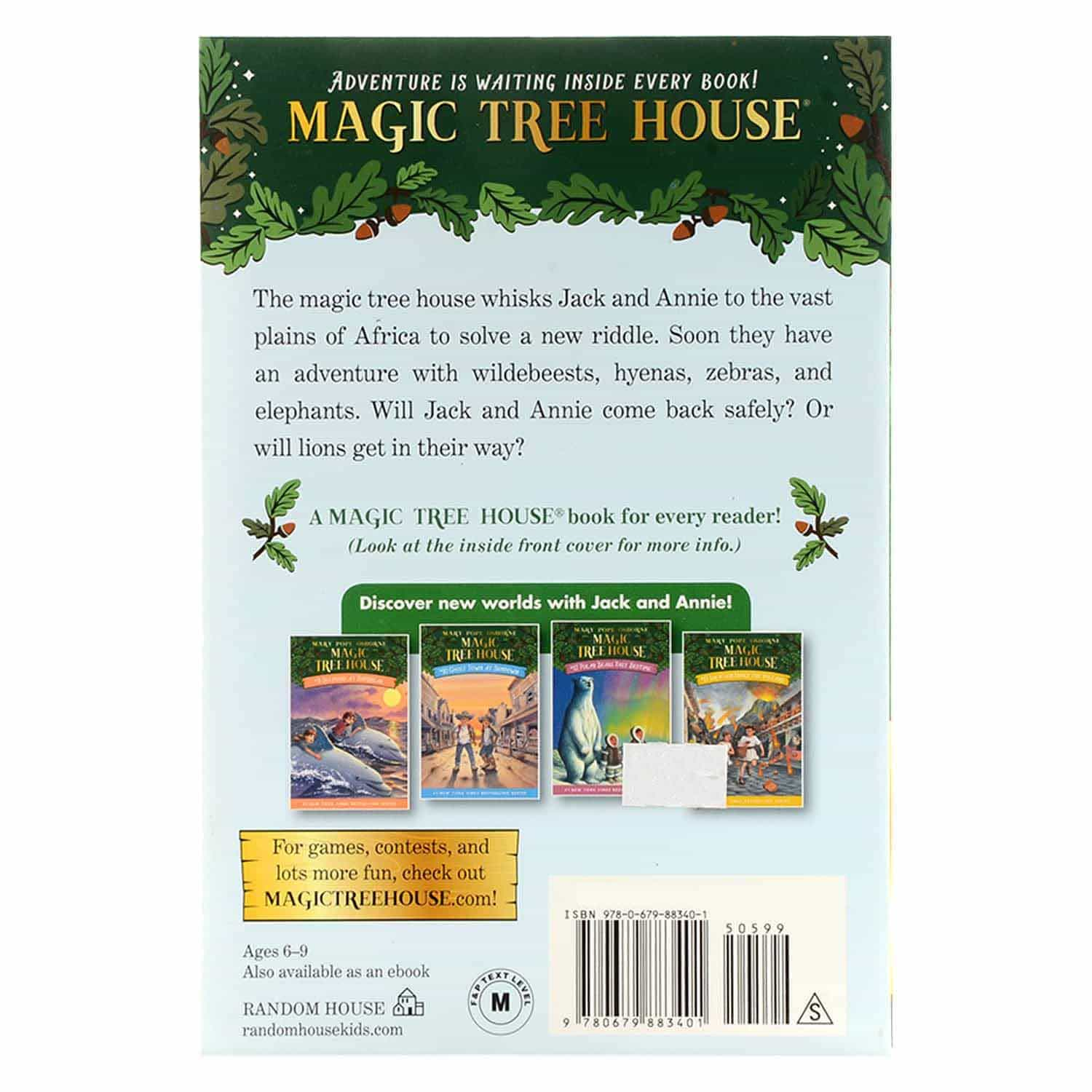 Magic Tree House Series - #11 Lions At Lunchtime