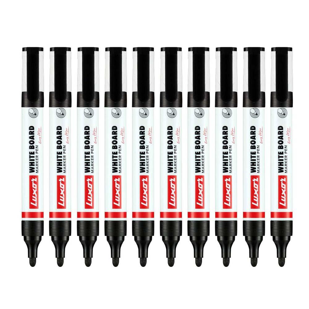 Luxor 1223 Whiteboard Refillable Black Marker (Box of 10 Pens)