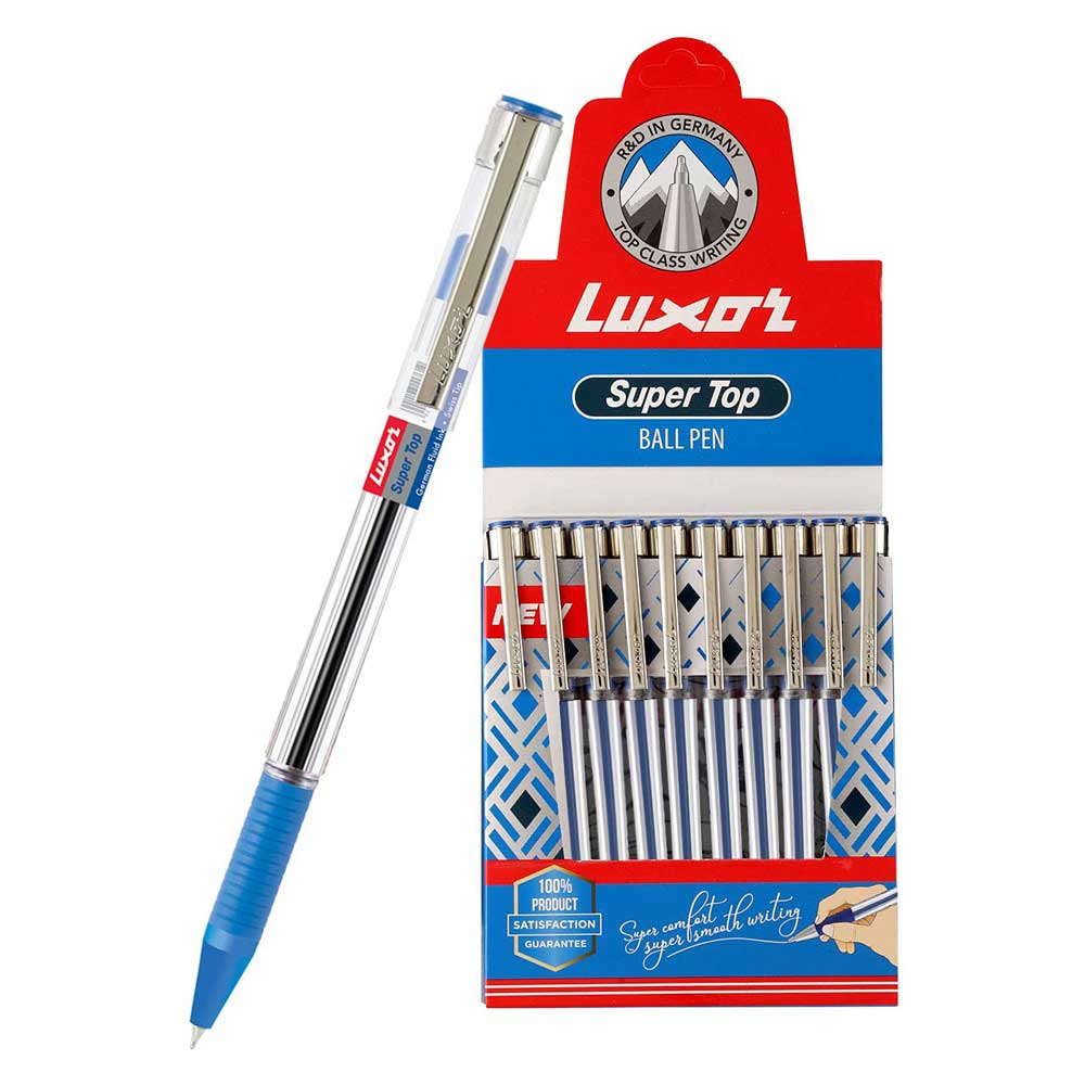 Luxor Super Top Ball Pen (Box of 10 Blue Pens)