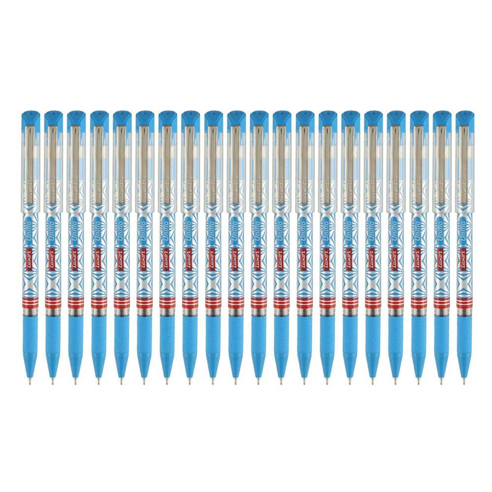 Luxor UNIFLO Ball Point Pen (Box of 20 Pens Blue Pens)