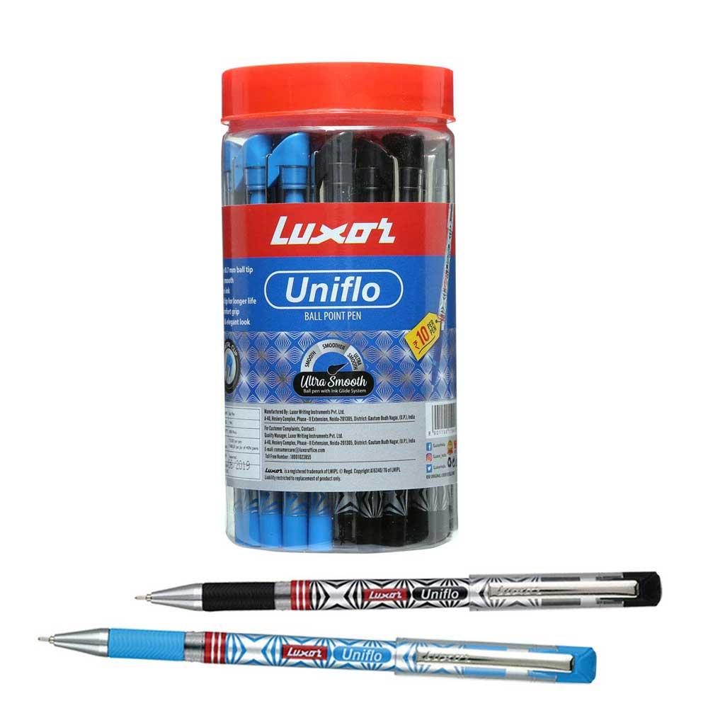 Luxor Uniflo Ball Pen (Pack of 40 Assorted Pens)