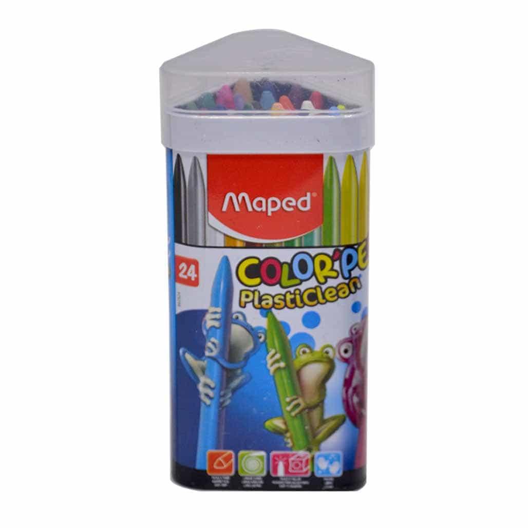 Maped Plastic Crayons - 24 Shades