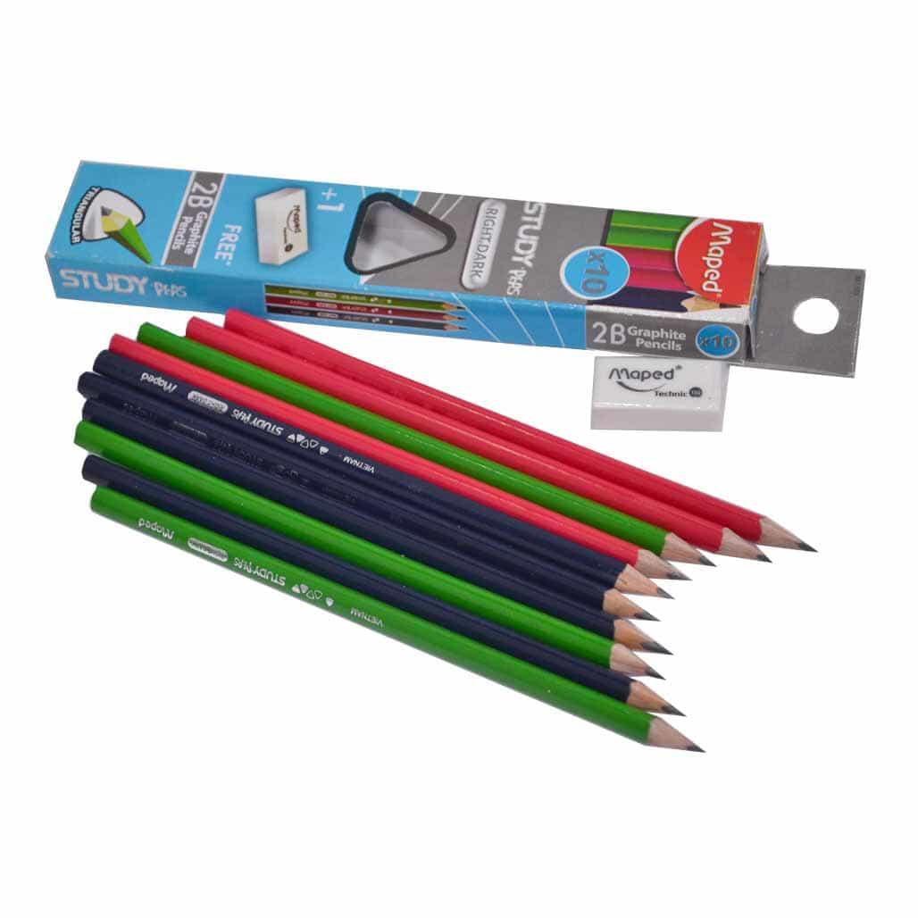 Maped Triangular Pencils - Set of 10
