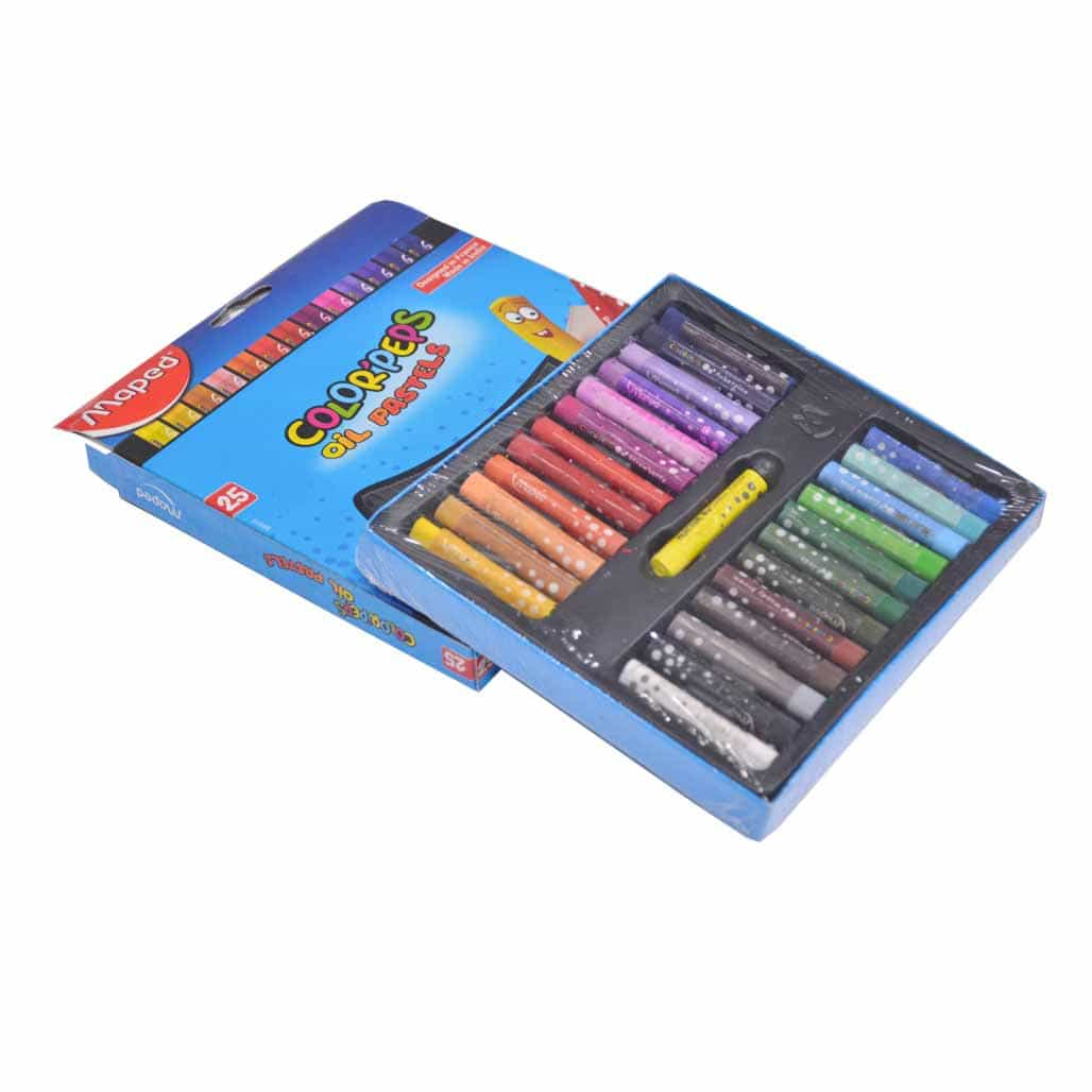 Maped Triangular Oil Pastel Colors - 25 Shades