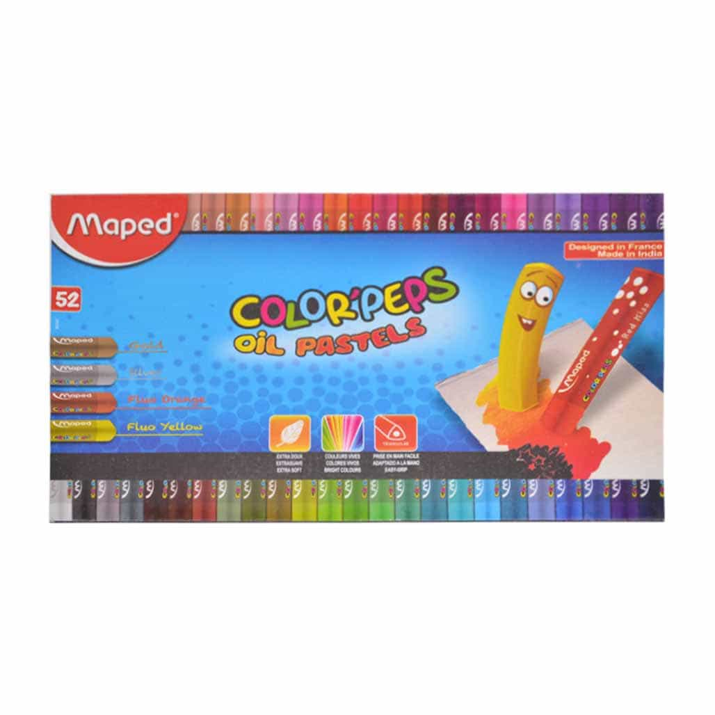 Maped Triangular Oil Pastel Colors - 52 Shades