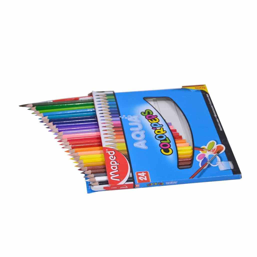 Maped Aqua Triangular Color Pencils - 24 Shades