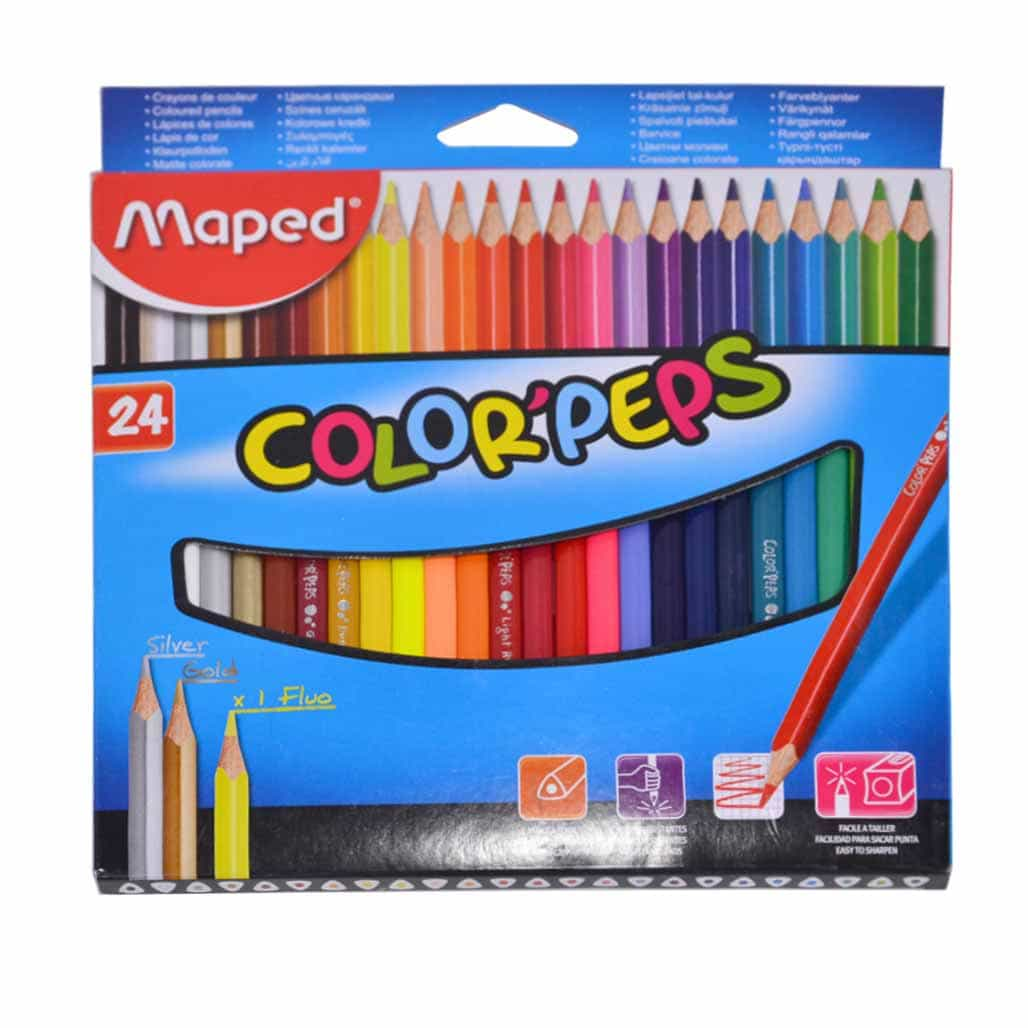 Maped Triangular Color Pencils - 24 Shades