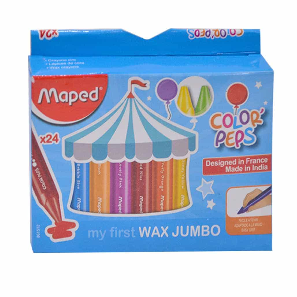 Maped Wax Crayons - 24 Shades