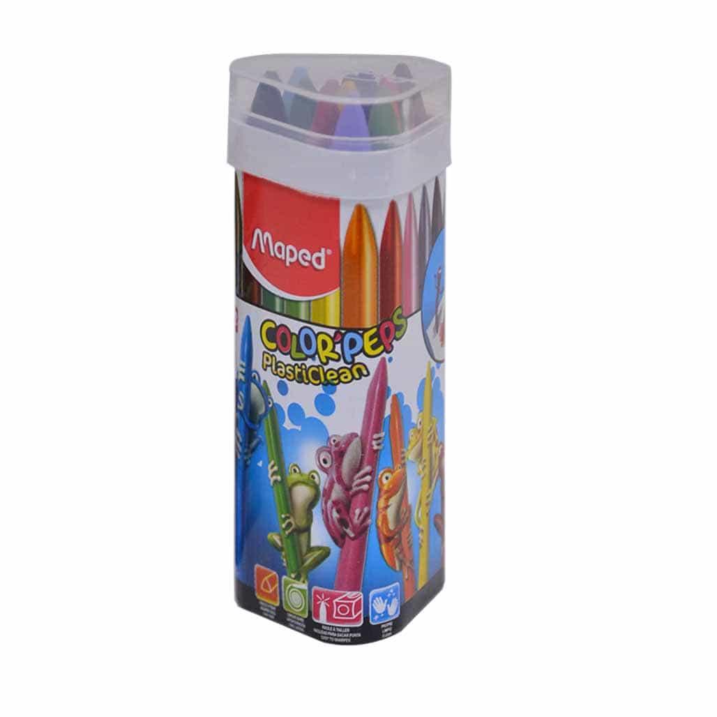 Maped Plastic Crayons - 12 Shades