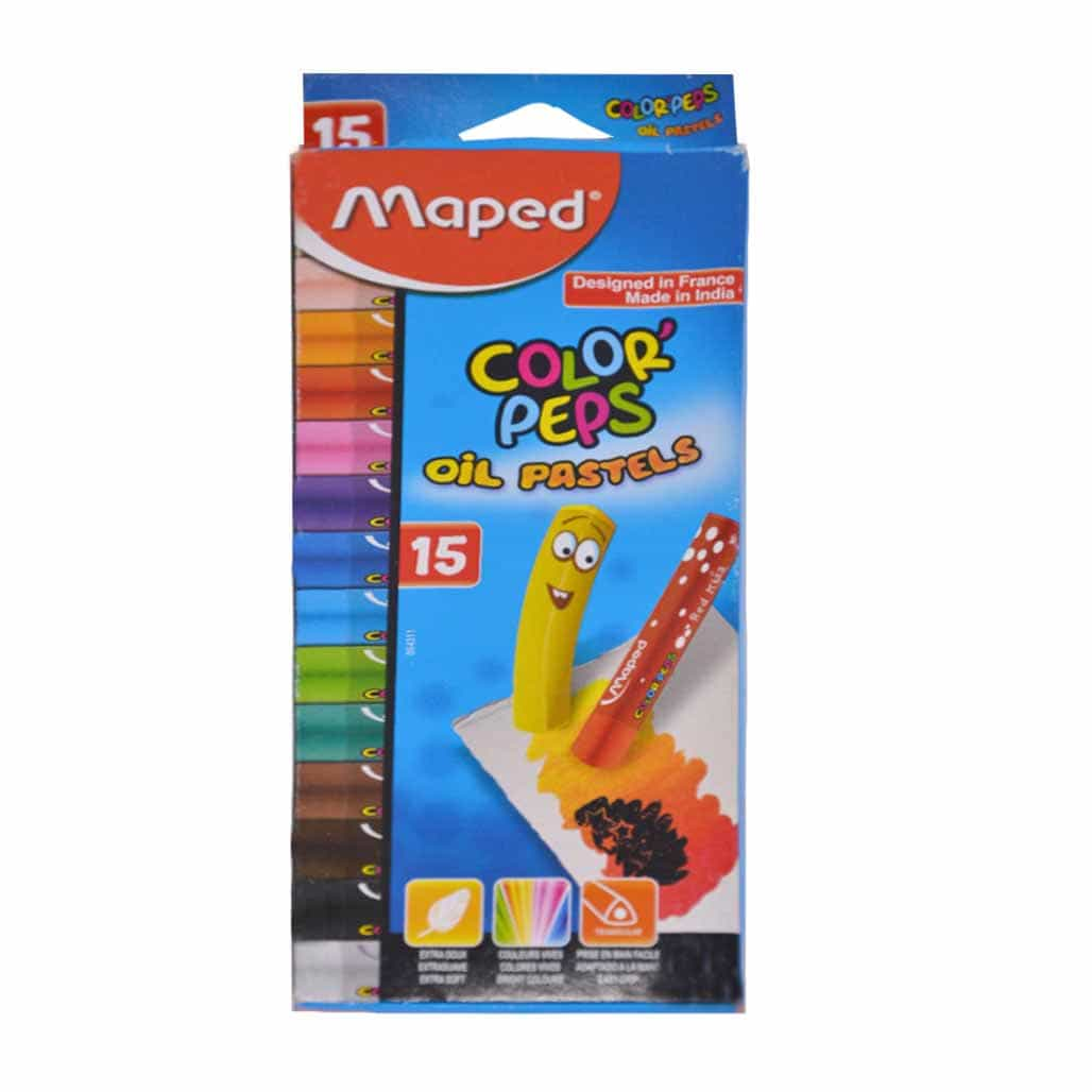 Maped Oil Pastels Colors - 15 Shades