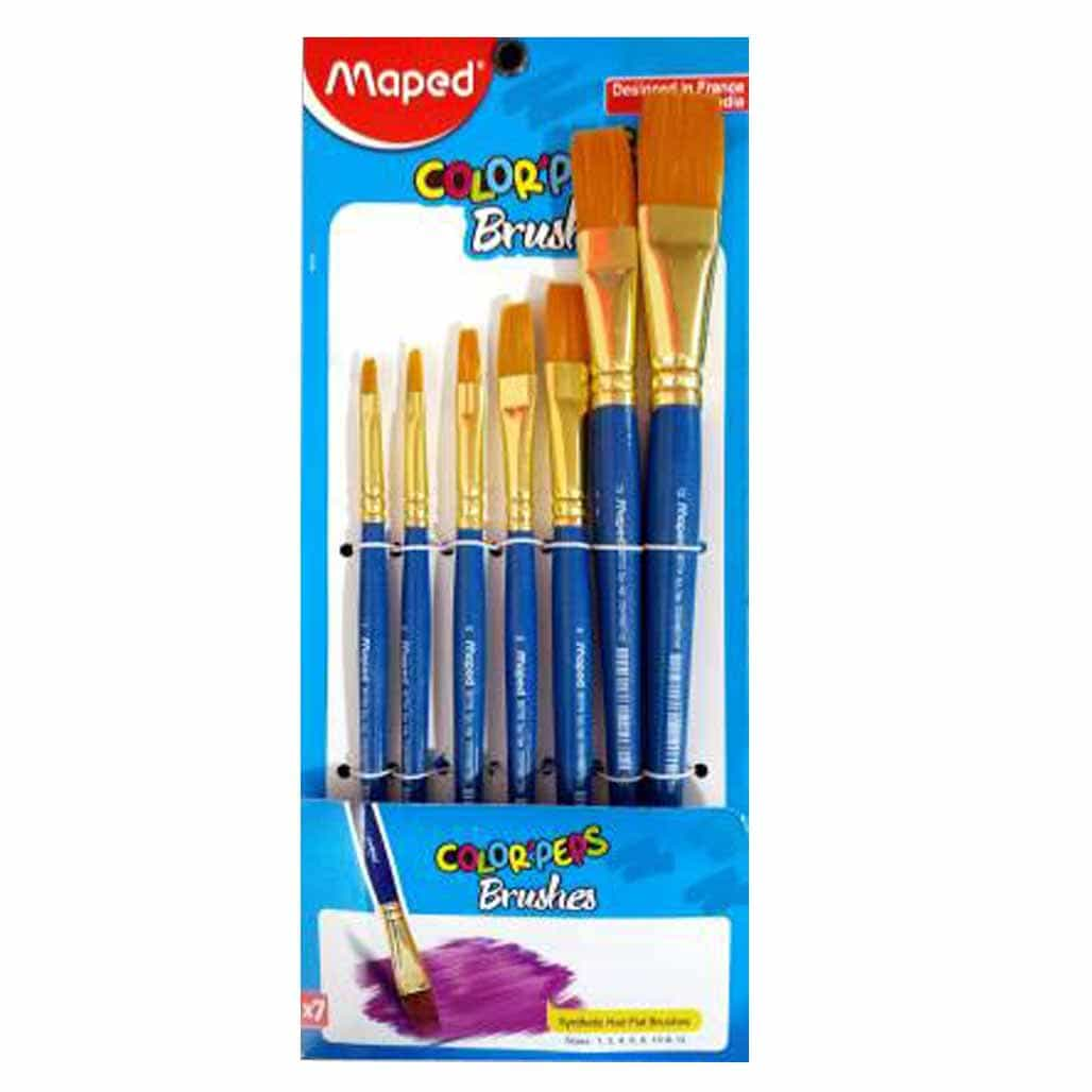 Maped Color Peps Flat Brushes - Set of 7