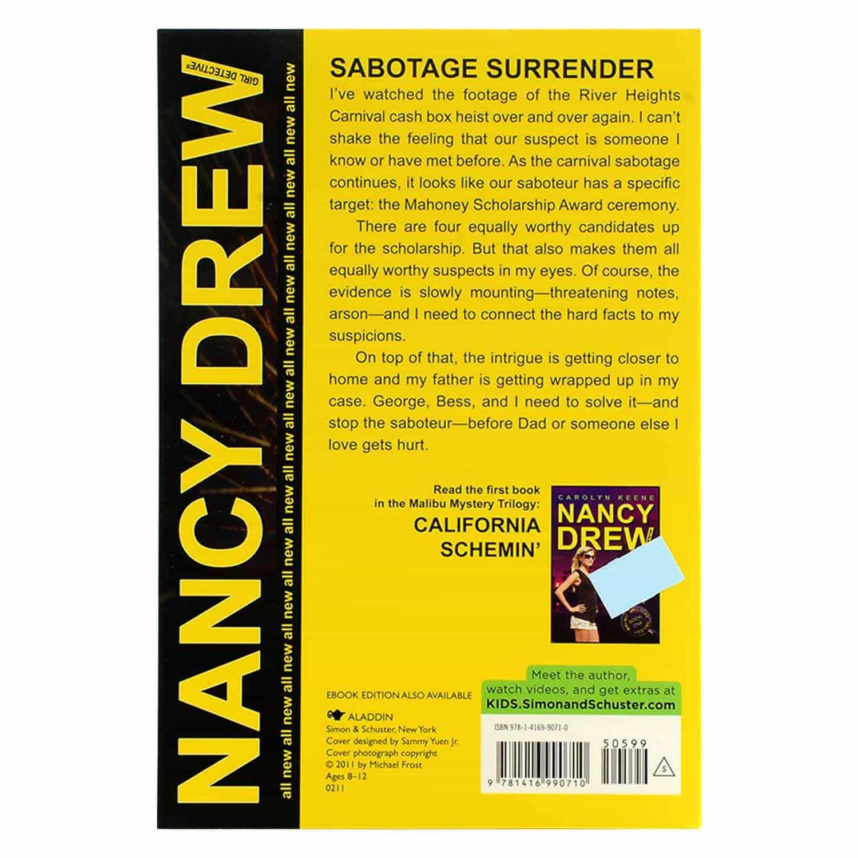 Nancy Drew Series - Sabotage Surrender