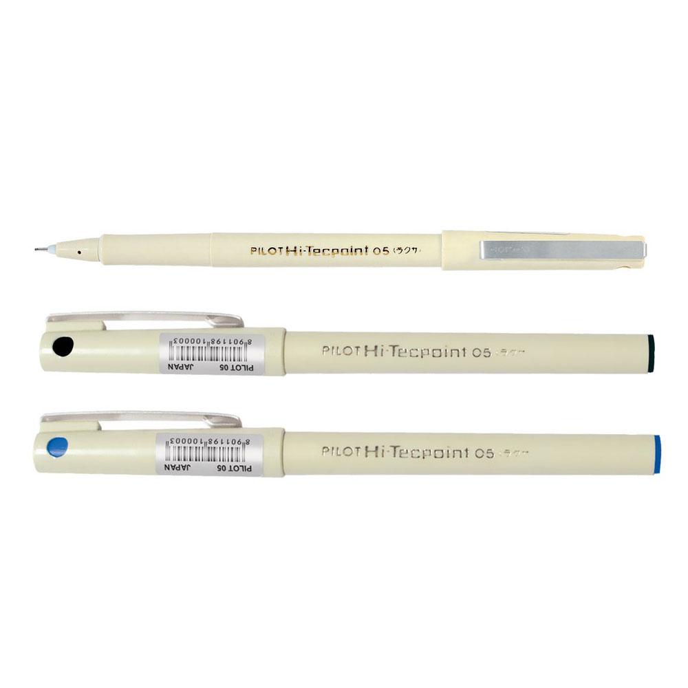 Pilot Hi-Techpoint 05 Pen Pack of 3  (2 Blue + 1 Black Pens)
