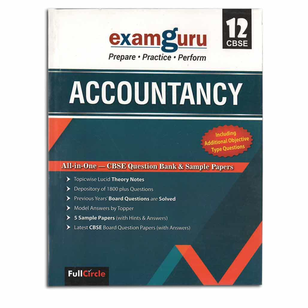 Examguru CBSE Question Bank & Sample Papers - Accountancy  - Class 12
