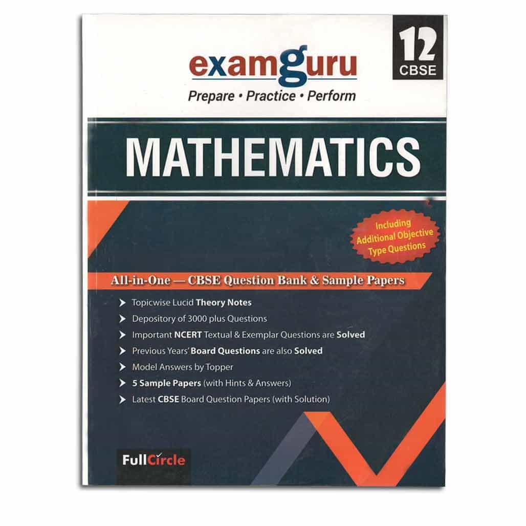 Examguru CBSE Question Bank & Sample Papers - Mathematics - Class 12
