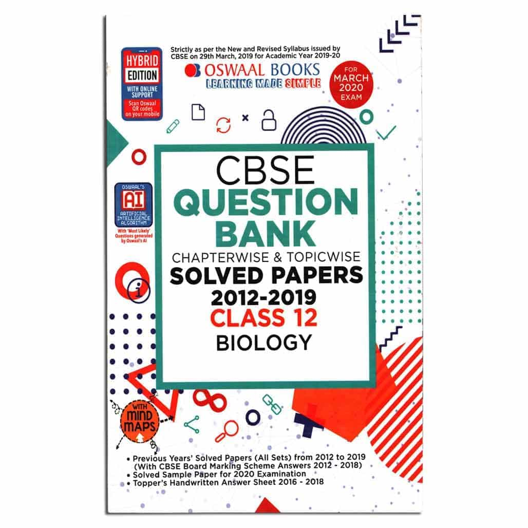 Oswaal CBSE Question Bank (2012-2019) - Biology - Class 12