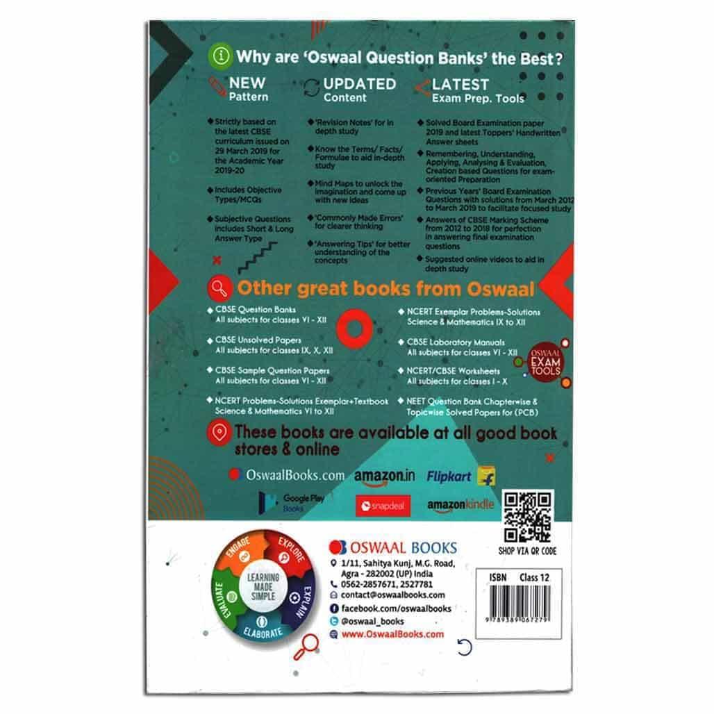 Oswaal CBSE Question Bank (2012-2019) - Mathematics - Class 12