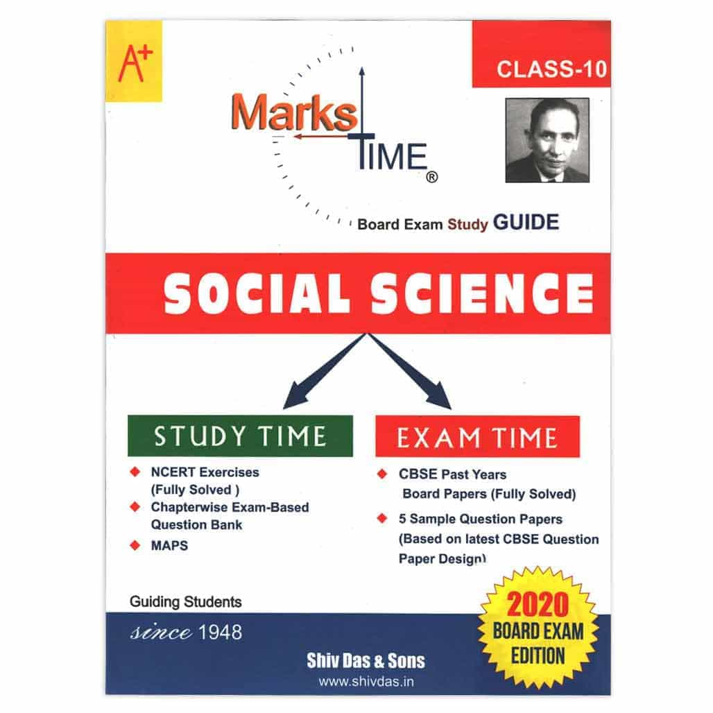 Marks Time CBSE Social Science Study Guide - Class 10