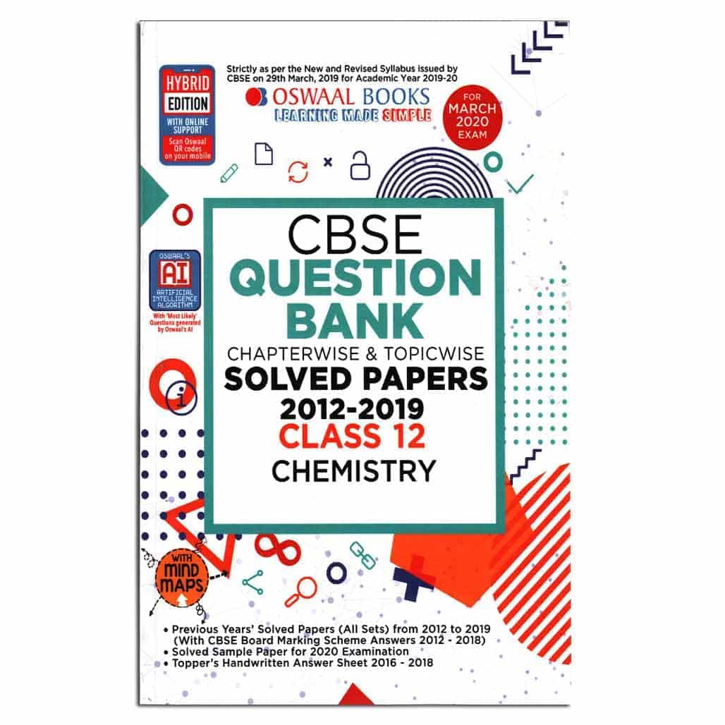 Oswaal CBSE Question Bank (2012-2019) - Chemistry - Class 12