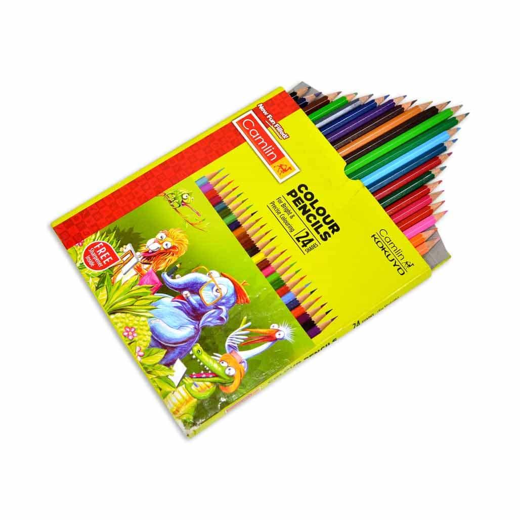 Camlin Color Pencil - 24 Shades