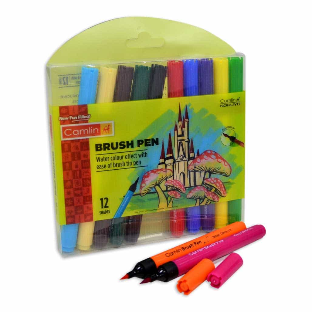 Camlin Brush Pen - 12 Shades