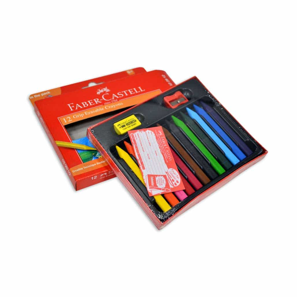 Faber Castell Erasable Crayons - 12 Shades