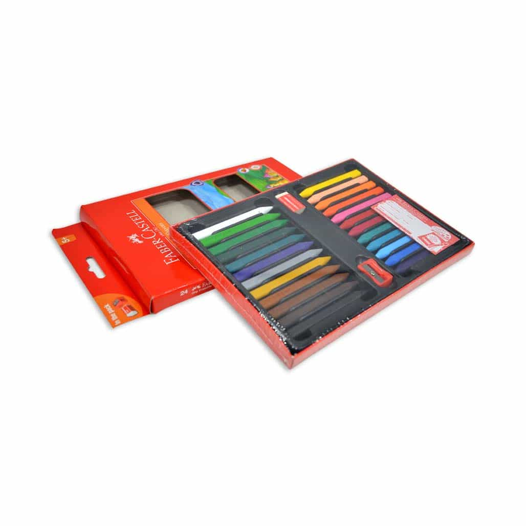 Faber Castell Erasable Crayons - 24 Shades