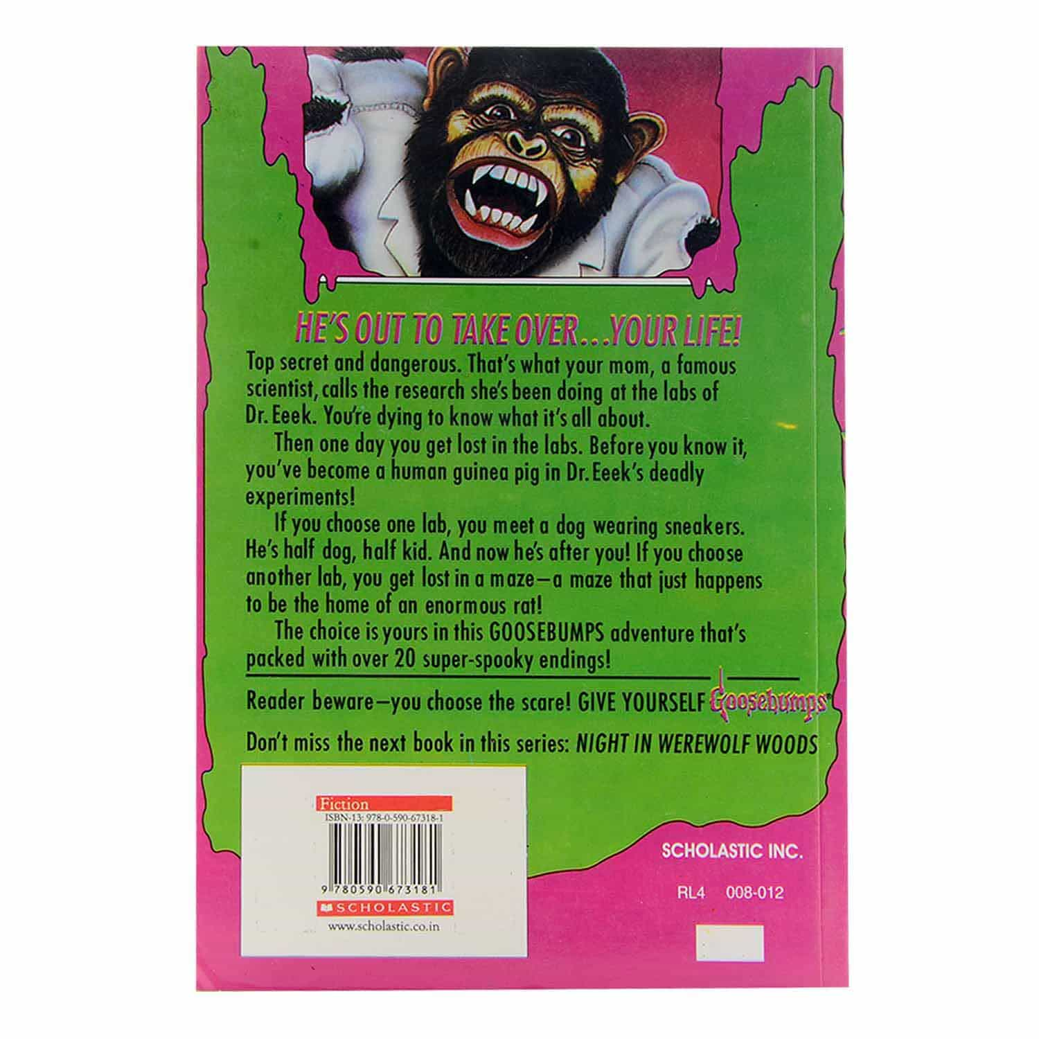 Goosebumps Horrorland Series - #4 The Deadly Experiments of Dr. EEEK