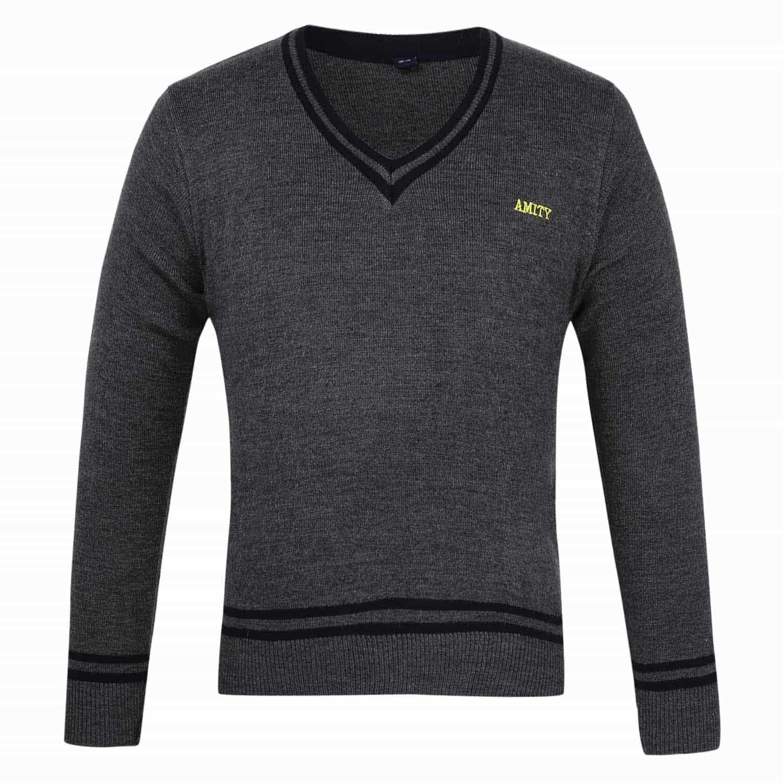 Amity Unisex Grey Full Sleeves Sweater - Class Nursery to 12